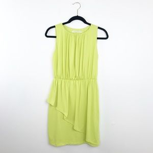 Susana Monaco neon yellow sleeveless ruffle dress